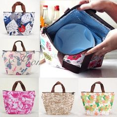 Flower Portable Insulated Picnic Thermal Cooler Lunch Box Carry Tote Storage Bag