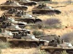 South African Rooikat Heavy Armored cars on the prowl on the veldt...
