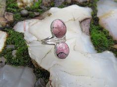 Custom ring for Katie, Rhodonite double stone, size 8 #565 by  www.sandyriverjewelry.com