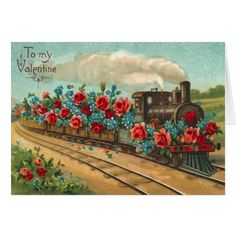 Vintage Love Train Valentine's Day Card - click to get yours right now!