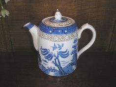Booths REAL OLD WILLOW PERFECTA TEA/COFFEE POT CAMEL DRIP-LESS SPOUT af