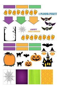 Halloween Sticker Freebie