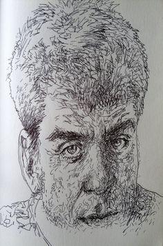 estudio del retrato, tratamiento lineal.