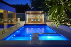 SPASA WA Awards winner in the over category Barrier Reef Pools Perth. Backyard Pool Designs, Small Backyard Pools, Small Pools, Swimming Pools Backyard, Pool Spa, Swimming Pool Designs, Fiberglass Swimming Pools, Sims House Design, Pool Picture