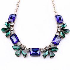 Host Pick--Blue bib necklace Blue bib necklace  Length 44x6 cm Material : zinc alloy,resin,glass  Brand new !!!!!!! Jewelry Necklaces