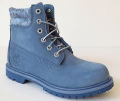 Timberland-Womens-Blue-6-Inch-Waterproof-Double-Denim-look-Collar-Boots-A14J5