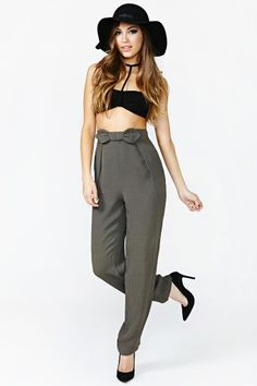 Giorgio Armani Adore Me Trousers in Vintage The Score at Nasty Gal