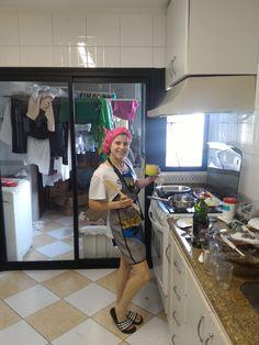 Estilo é tudo nessa vida, pega esse look de cozinha hahahah