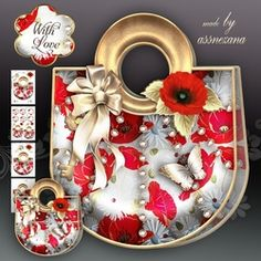 Poppy Flower Handbag Card Mini Kit on Craftsuprint - View Now!
