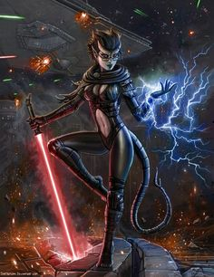 """The artist decided to eliminate another Imperial Stormtrooper. You know: one must help the Rebel Alliance. To do the deed he sent in a Zeltron """"heroine""""! (An average Imperial Stormtrooper isn't the..."""