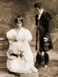 Alexander Pushkin's Eugene Onegin starring Tsarevich Nikolai Alexandrovich Romanov of Rusdia and Grand Duchess Elisabeth Feodorovna Romanova of Russia in Winter 1890.