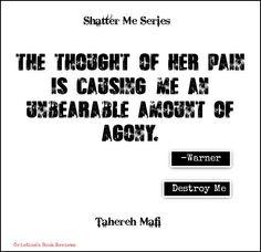 Shatter Me Series | Tahereh Mafi #warner