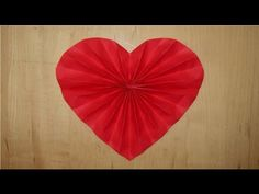 Paper heart decoration for Valentines, Wedding, or Anniversary - YouTube