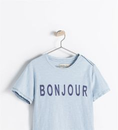 "Image 3 of ""BONJOUR"" T-SHIRT from Zara"