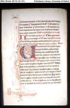Illuminated Manuscript  [MS.] Broxb. 89.10 Psalter-Hours, in Dutch Holland, Haarlem?; 15th century, c. 1460-70  972×1,500 pixels