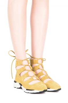 Jeffrey Campbell Shoes GITTES Shop All in Mustard Suede