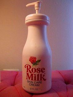 rosemilk lotion   Mmm smelled like roses