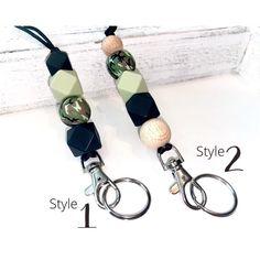 CAMOUFLAGE Lanyards / Badge Holder Black Green & Camo | Etsy Tassel Keychain, Badge Holders, Black Nylons, Bead Crafts, Camouflage, Sweet Peach, Lanyards, Beads, Keychains