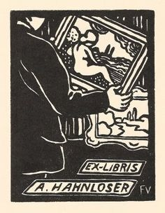 Bookplate A. Hahnloser Artist: Felix Vallotton, CH / FR (Lausanne 1865-1925 Paris) Woodcut, 1923