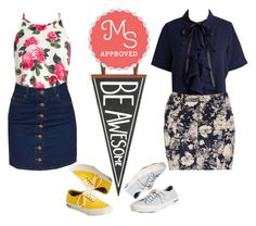 """Be Awesome!"" by modcloth ❤ liked on Polyvore featuring SeaVees"