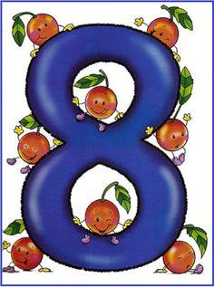 * Dieren cijferkaarten! 8-10 Farm Animals Preschool, Numbers Preschool, Math Numbers, Preschool Worksheets, Letters And Numbers, Math Games, Activities For Kids, Crafts For Kids, Lessons For Kids