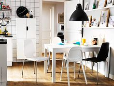 IKEA offers everything from living room furniture to mattresses and bedroom furniture so that you can design your life at home. Check out our furniture and home furnishings! Diy Dining Table, Modern Dining Room Tables, Dining Room Furniture, Dining Chairs, Dining Area, Ikea Table, Kitchen Dinning, Ikea Bjursta, Bjursta Table