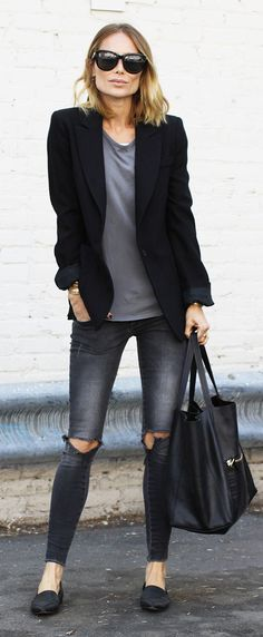 Greys And Black Casual Streetstyle