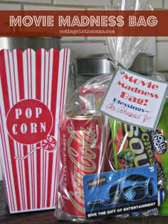 Love this idea for a birthday time capsule of sorts with things from this is an amazing gift i think this is what im going to do for my friend movie madness bag really cute solutioingenieria Image collections