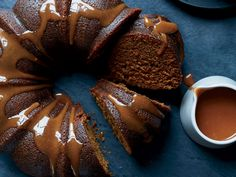 This best-ever porter cake with whiskey sauce gets flavor from porter beer, molasses and warm spices. Get the recipe from Food & Wine. Just Desserts, Delicious Desserts, Dessert Recipes, Porter Cake, Wine Recipes, Baking Recipes, Eat This, Chocolate Lava Cake, Cupcake Cakes