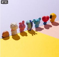 [BTS x Royche] New Official Monitor Figure - 7 Characters, Authentic Goods Cute Polymer Clay, Cute Clay, Diy Clay, Clay Crafts, Kawaii, Bts Merch, Line Friends, Line Illustration, Art Poses