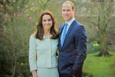 New official portrait of William and Catherine.