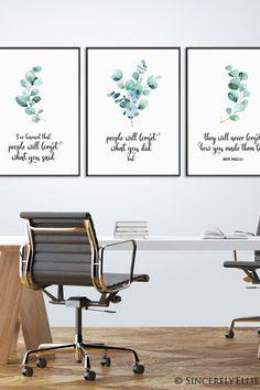 Maya Angelou 'People Will Forget ...' inspirational quote #inspiring #wallartdecor #livingroomdecor #homeofficedecor #homedecor #inspirationalquote #mayaangelou Printable Designs, Printable Wall Art, Wall Art Decor, Wall Art Prints, Home Office Decor, Home Decor, Home Printers, School Counselor, Maya Angelou