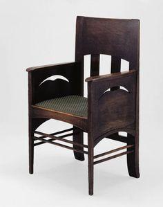 Charles Rennie Mackintosh Scottish, 1868-1928 Armchair, 1897