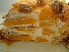 Rețetă Tort de clatite cu portocale si sirop caramel, de Laura Sava - Petitchef