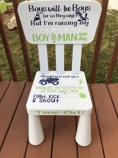 Hey I found this really awesome Etsy listing at //.etsy.com/listing/506972186/time-out-chair-boys-time-out-kids- time & Gender Neutral Time Out Chair by BusseyWreaths on Etsy | Gift Ideas ...
