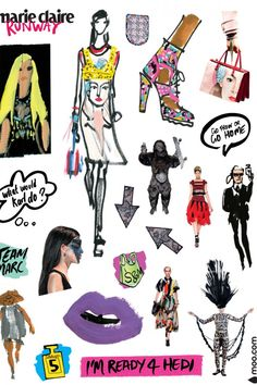 Donald Robertson and Marie Claire Runway SS14 Have Made The Coolest Fashion Stickers Ever | Marie Claire