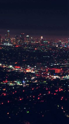 City View Night Light Red #iPhone #6 #wallpaper