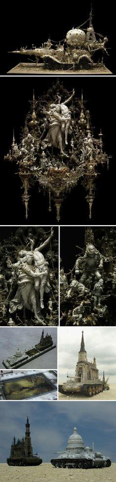 Kris-Kuksi_intricate-elaborada-grotescas esculturas-dioses-monstruos-war_collabcubed