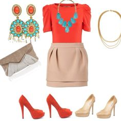 love teal and orange. amazing and fun spring/summer colors.
