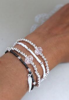 Hey, I found this really awesome Etsy listing at https://www.etsy.com/listing/474401829/silver-beaded-bracelet-glass-seed-beads