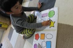 Free PDF Download! Colorful Shapes Matching File Folder Printable Game