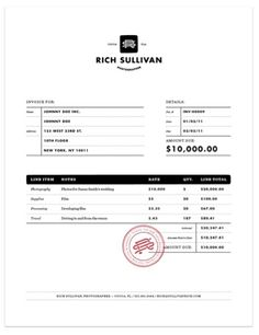 invoice design - pinned by brocoloco.com