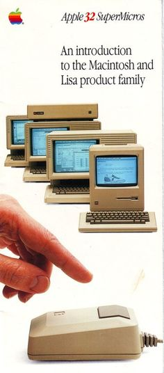"""""""Apple 32 SuperMicros"""" Brochure - 1984. An introduction to the Macintosh and Lisa product family."""