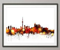 Toronto Canada City Skyline, Art Print (1073)