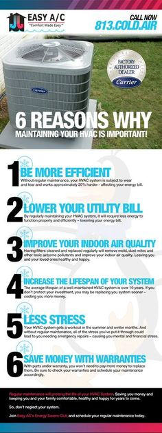 6 Reasons Why Maintaining Your HVAC Is Important!