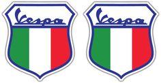 Vespa Italy Sheild Stickers Pair, £3.35