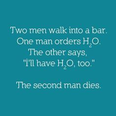 Nerd humour :) my teacher actually put this at the end of a chemistry test last…