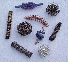 Make Wire Beads   Beadifferent   Wire jewelry tutorials