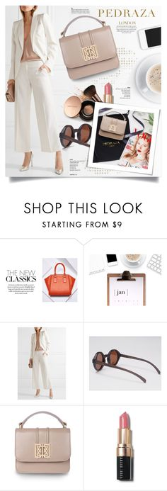 """""""Pedraza London"""" by yexyka ❤ liked on Polyvore featuring BCBGMAXAZRIA, Alexander McQueen, Bobbi Brown Cosmetics, Nude by Nature, PedrazaLondon and Pedraza"""