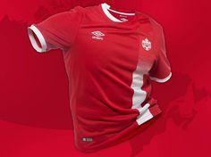Camisas do Canadá 2016-2017 Umbro